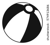 beach ball icon. simple... | Shutterstock .eps vector #574913686