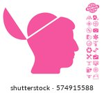 open brain pictograph with... | Shutterstock .eps vector #574915588