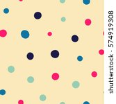 seamless dots pattern. vector... | Shutterstock .eps vector #574919308
