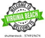 virginia beach. welcome to... | Shutterstock .eps vector #574919674