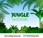 jungle rainforest background.... | Shutterstock .eps vector #574920640