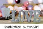 decoration for valentine's day  ... | Shutterstock . vector #574920904