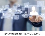 human resources  hr  management ... | Shutterstock . vector #574921243