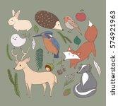 woodland animals | Shutterstock .eps vector #574921963