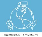 logistic icon vector   Shutterstock .eps vector #574925374