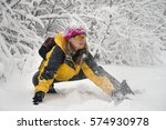 powerful snow storm cyclone... | Shutterstock . vector #574930978