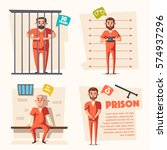 prison. cartoon vector... | Shutterstock .eps vector #574937296