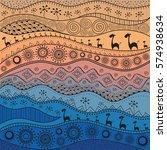 african hand drawn ethno... | Shutterstock .eps vector #574938634