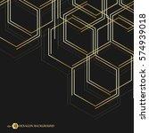 hexagonal business pattern.... | Shutterstock .eps vector #574939018