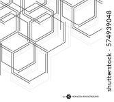 hexagonal business pattern.... | Shutterstock .eps vector #574939048