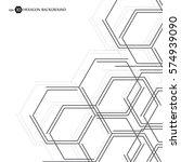 hexagonal business pattern.... | Shutterstock .eps vector #574939090