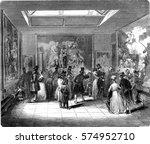 gobelins  exhibition room ... | Shutterstock . vector #574952710