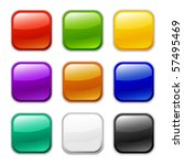vector glossy button icon ... | Shutterstock .eps vector #57495469