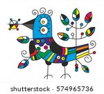 bird. style graphics with... | Shutterstock .eps vector #574965736