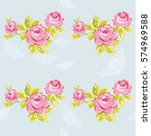 seamless floral pattern with... | Shutterstock .eps vector #574969588