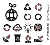 recycle icon set | Shutterstock .eps vector #574970170