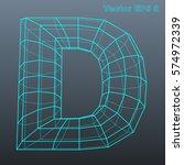 vector letter d stylized... | Shutterstock .eps vector #574972339