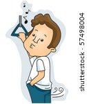 man farting   vector   Shutterstock .eps vector #57498004