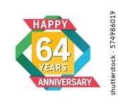 anniversary banner celebration... | Shutterstock .eps vector #574986019