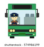 bus with driver | Shutterstock . vector #574986199