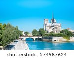 cathedral notre dame reims... | Shutterstock . vector #574987624