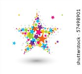 colorful star | Shutterstock .eps vector #57498901