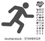 running man pictograph with... | Shutterstock .eps vector #574989529