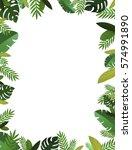 tropical handcrafted papercraft ... | Shutterstock . vector #574991890