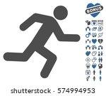 running man icon with bonus... | Shutterstock .eps vector #574994953
