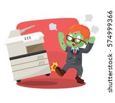zombie businessman angry... | Shutterstock .eps vector #574999366