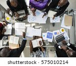 diverse business people meeting ... | Shutterstock . vector #575010214