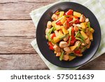 chinese food  fried chicken... | Shutterstock . vector #575011639