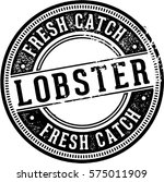 fresh catch lobster seafood sign | Shutterstock .eps vector #575011909