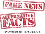 fake news and alternative facts ... | Shutterstock .eps vector #575015776