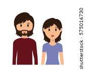 cute couple cartoon icon vector ... | Shutterstock .eps vector #575016730
