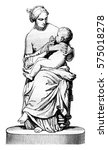 1842 sculpture show  young... | Shutterstock . vector #575018278