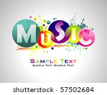 music abstract colorful... | Shutterstock .eps vector #57502684