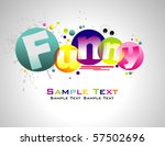 funny abstract colorful... | Shutterstock .eps vector #57502696