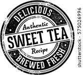 vintage sweet tea sign | Shutterstock .eps vector #575026996