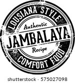 vintage jambalaya restaurant... | Shutterstock .eps vector #575027098