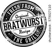 vintage bratwurst fresh from... | Shutterstock .eps vector #575027110