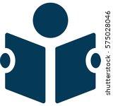 reader vector icon | Shutterstock .eps vector #575028046