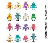 robot character vector... | Shutterstock .eps vector #575036794