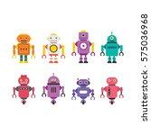 robot character vector... | Shutterstock .eps vector #575036968