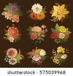 vector set of images of... | Shutterstock .eps vector #575039968