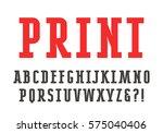 slab serif font. bold face | Shutterstock .eps vector #575040406