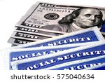 social security cards for... | Shutterstock . vector #575040634