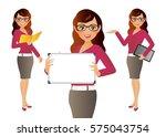 elegant people businesswoman | Shutterstock .eps vector #575043754