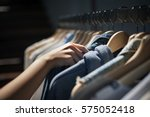 clothes shop costume dress... | Shutterstock . vector #575052418