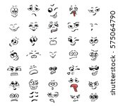 set of cartoon faces of people. ... | Shutterstock .eps vector #575064790